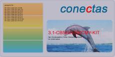 Druckkassette 3.1-CB540A-BKCMY-KIT kompatibel mit HP CB540A / Rainbow Kit (4er Pack)