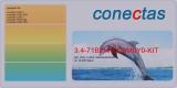 Toner 3.4-71B2HK0C0M0Y0-KIT kompatibel Rainbow Kit mit Lexmark 71B2HK0 / 71B2HC0 / 71B2HM0/ 71B2HY0